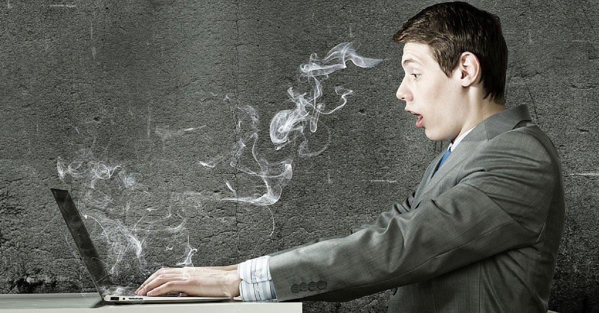Man Making IT Computer Mistake